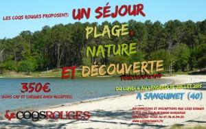 Affiche Sejour Sanguinet 2015