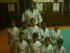 Adrian Millon avec ses élèves de l'école de Judo