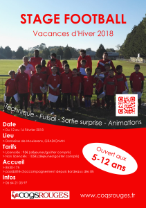 Affiche Stage Football Hiver 2018